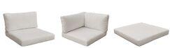 Monaco Outdoor 13 Piece Lounge Chair Cushion Set Fabric: Beige