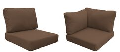 East Village 14 Piece Outdoor Cushion Set Fabric: Cocoa
