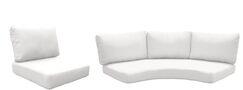 Fairmont 14 Piece OutdoorLounge Chair Cushion Set Fabric: Gray