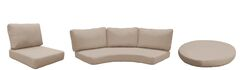 East Village Outdoor 11 Piece Lounge Chair Cushion Set Fabric: Wheat