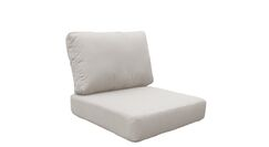 Manhattan Outdoor 4 Piece Lounge Chair Cushion Set Fabric: Beige