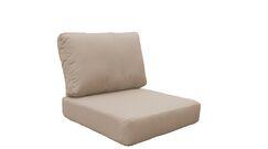 Manhattan Outdoor 4 Piece Lounge Chair Cushion Set Fabric: Wheat