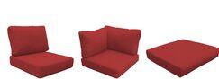 Capecod 12 Piece Outdoor Lounge Chair Cushion Set Fabric: Terracotta