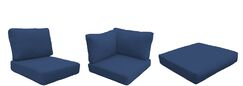 Coast 9 Piece Outdoor Lounge Chair Cushion Set Fabric: Navy