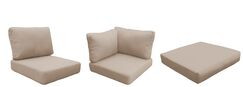 Eldredge Outdoor 21 Piece Lounge Chair Cushion Set Fabric: Wheat