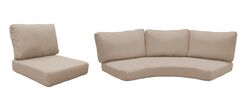 East Village Outdoor 14 Piece Lounge Chair Cushion Set Fabric: Wheat