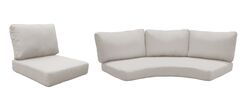 East Village Outdoor 14 Piece Lounge Chair Cushion Set Fabric: Beige