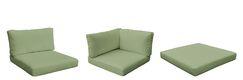 Monterey Outdoor 13 Piece Lounge Chair Cushion Set Fabric: Cilantro