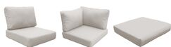 Capecod 21 Piece Outdoor Lounge Chair Cushion Set Fabric: Beige