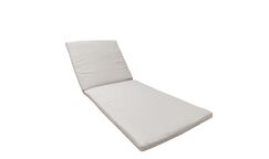 2 Piece Outdoor Chaise Lounge Cushion Set Fabric: Beige