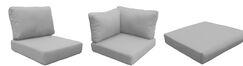 Fairmont Outdoor 20 Piece Lounge Chair Cushion Set Fabric: Gray