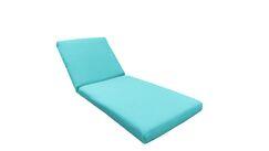 2 Piece Outdoor Chaise Lounge Cushion Set Fabric: Aruba