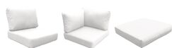 East Village Outdoor 25 Piece Lounge Chair Cushion Set Fabric: White
