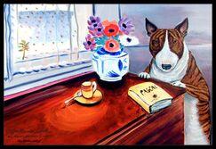 Bull Terrier Doormat Mat Size: Rectangle 2' x 3'