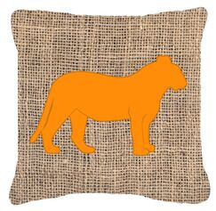 Tiger Burlap Indoor/Outdoor Throw Pillow Size: 14