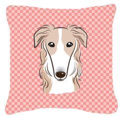 Checkerboard Borzoi Indoor/Outdoor Throw Pillow Size: 14