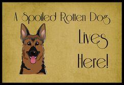 German Shepherd Spoiled Dog Lives Here Doormat Mat Size: 2' x 3'