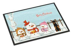 Merry Christmas Carolers Manchester Terrier Doormat Mat Size: Rectangle 2' x 3'