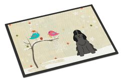 Christmas Presents Between Friends Cocker Spaniel Doormat Mat Size: Rectangle 1'6
