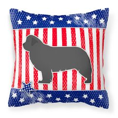 Patriotic Blue/Gray Square Indoor/Outdoor Throw Pillow Size: 18