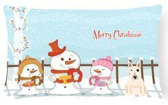 Daniella Merry Christmas Indoor/Outdoor Lumbar Pillow Color: White