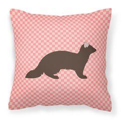 Check Outdoor Throw Pillow Color: Pink