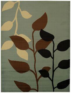Hinson Floral Garden Brown/Black Area Rug Rug Size: Rectangle 7'10