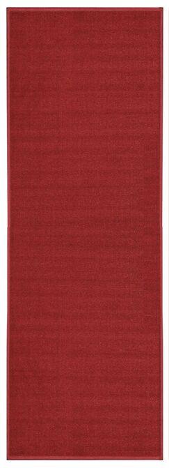 Harland Red Solid Doormat Mat Size: Runner 1'8