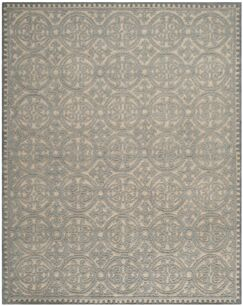 Cambridge Dusty Hand-Tufted Blue/Cement Area Rug Rug Size: Rectangle 5' x 8'