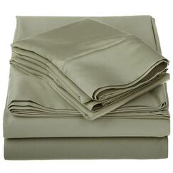 Superior 1200 Thread Count 100% Cotton Sheet Set Color: Sage, Size: Full