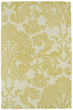 Rosalind Hand-Tufted Gold Area Rug Rug Size: Rectangle 2' x 3'