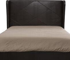 Mariel Upholstered Wingback Headboard Size: Full