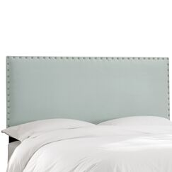 Aldan Upholstered Panel Headboard Size: Twin, Upholstery: Velvet Pool