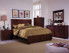 Loughran Panel Headboard Size: Full, Color: Espresso Pine