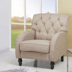 Daughtrey Tufted Back Armchair Upholstery: Wheat