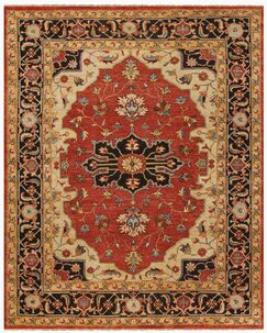 Castine Knotted Wool Red Area Rug Rug Size: Rectangle 8'6
