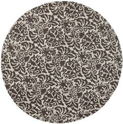 Thomsen Hand-Hooked Green/Brown Area Rug Rug Size: Round 5'6