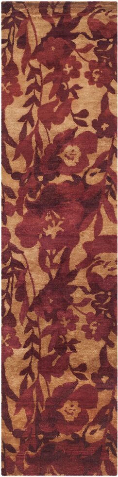 Lanclos Hand-Knotted Red Area Rug Rug Size: Runner 2'6