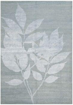 Rassuli Hand-Knotted Light Gray Area Rug Rug Size: Rectangle 6' x 9'
