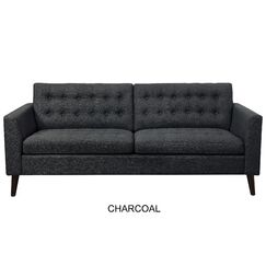 Darren Tufted Sofa Upholstery: Charcoal
