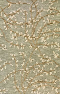 Richford Hand-Tufted Green Area Rug Rug Size: Rectangle 5' x 8'