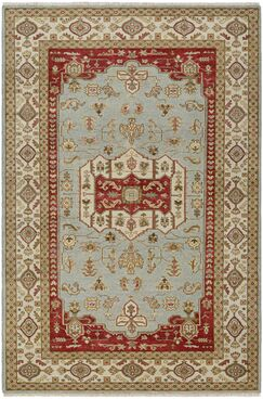 Brian Opal Hand-Knotted Rust/Sage Green Area Rug Rug Size: Rectangle 8' x 11'3
