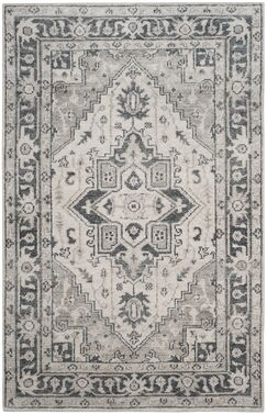 Pearse Hand-Knotted Gray Area Rug Rug Size: Rectangle 5' x 8'