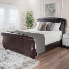 Greenside Leather Upholstered Sleigh Bed Size: Queen