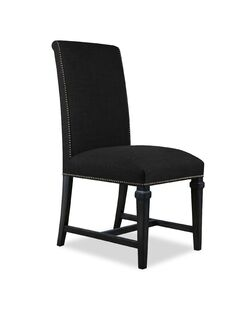 Rowen Parsons Chair Upholstery Color: Charcoal, Frame Color: Dry Cognac