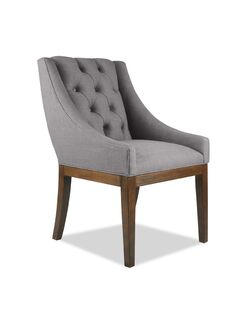 Haley Side Chair Upholstery Color: Gray, Finish: Cognac