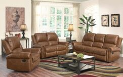 Bitter Root Reclining  3 Piece Leather Living Room