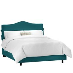 Lemuel Upholstered Panel Bed Color: Shantung Peacock, Size: Queen