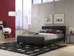 Courtney Upholstered Platform Bed Color: Black, Size: Queen