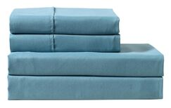 Columbard 300 Thread Count 100% Cotton Sheet Set Color: Blue, Size: Full